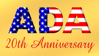 ADA flag letters 20th anniversary