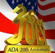 ADA 20th Anniversary Gold Flag