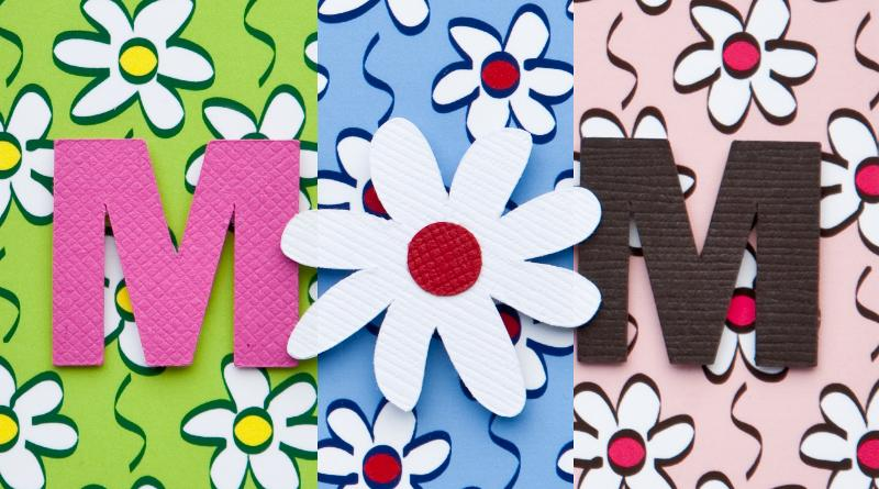 Three colors of Mother's Day daisy chain
