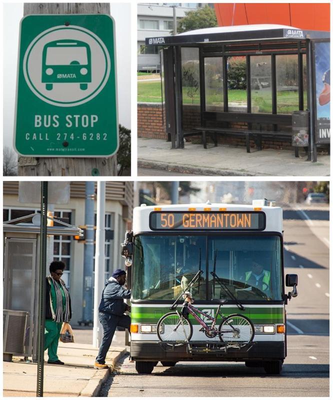 MATA, riders and signage
