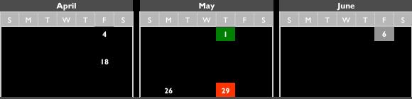 spring 2014 calendars