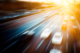 blurred highway traffic