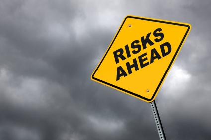 Warning sign: Risks ahead!