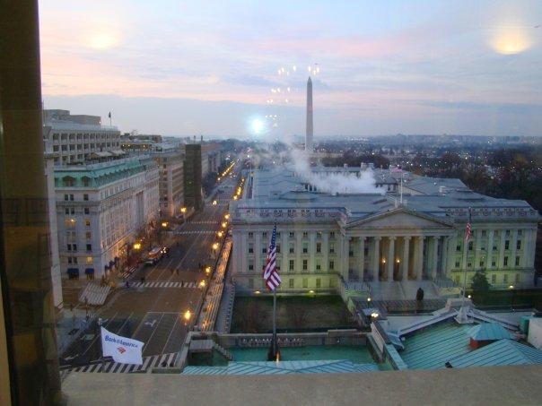 View of U S Treasury from 10th Floor Pentouse
