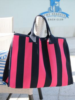 rugby stripe bag