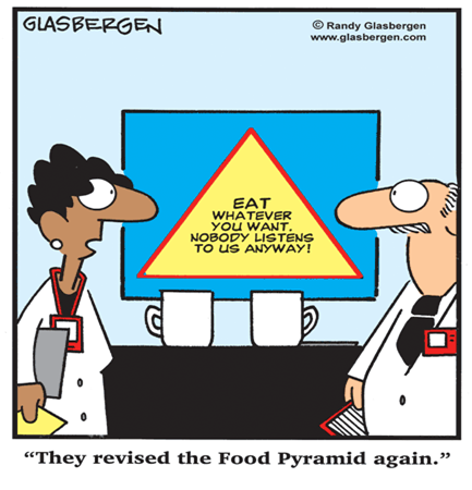 Nutrition Pyramid Cartoon