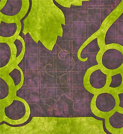 Grapes quilting