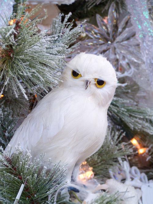 White Christmas White Owl