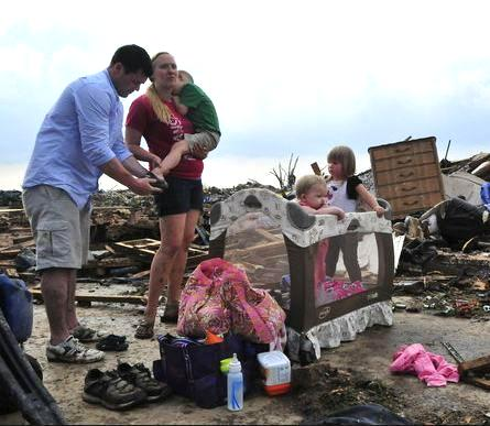 OK tornado family