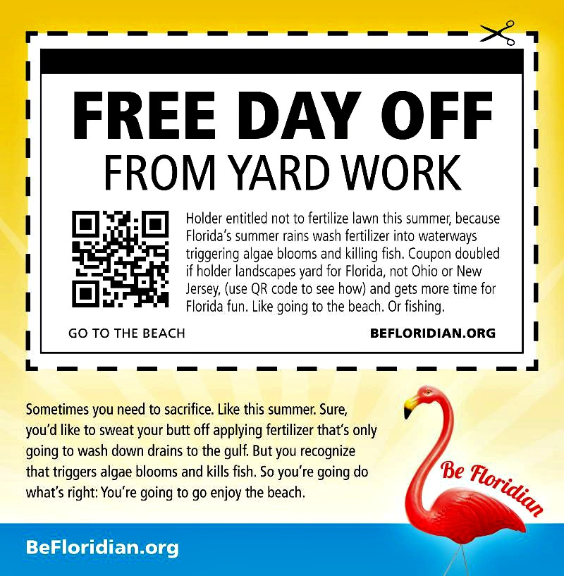 free day off yard work coupon
