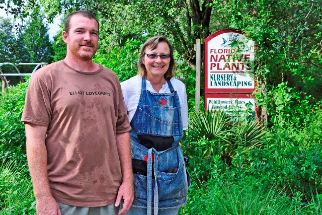 James caudell and Laurel Schiller of Florida Native Plants Nursery