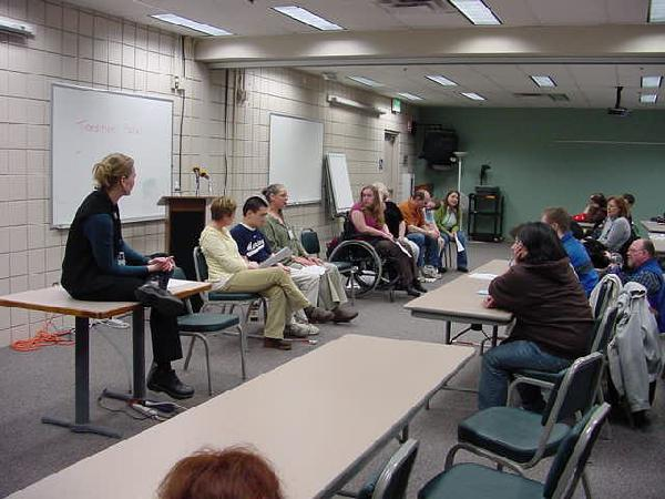 Transition Panel at 2008 Whatcom County Transition Fair