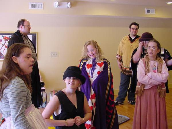 Getting into Costume- Drama Class at The Arc's Dan Godwin Community Center