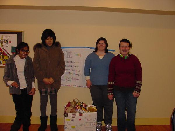 Serving others--Youth Self-Advocates with their food drive.