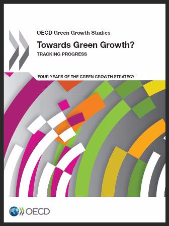 Cover of the OECD report - Towards Green Growth Tracking Progress