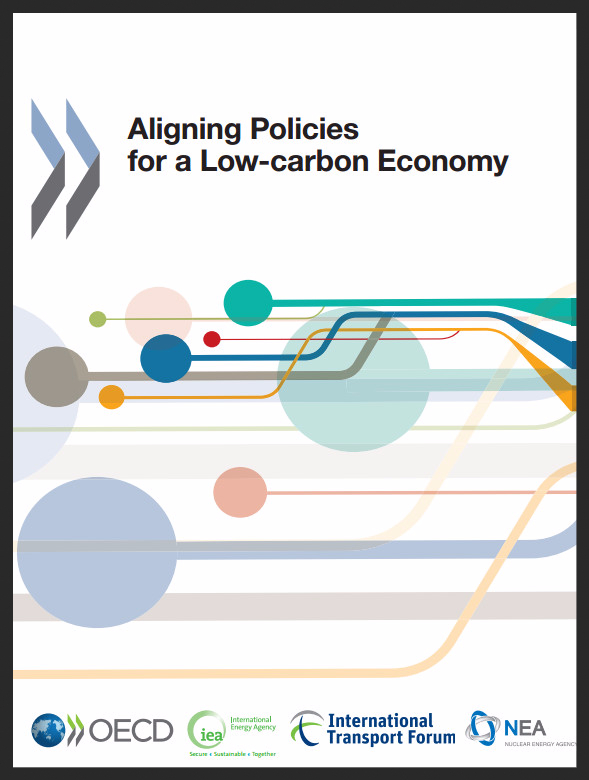Cover of the OECD report Aligning Policies for a Low-carbon Economy
