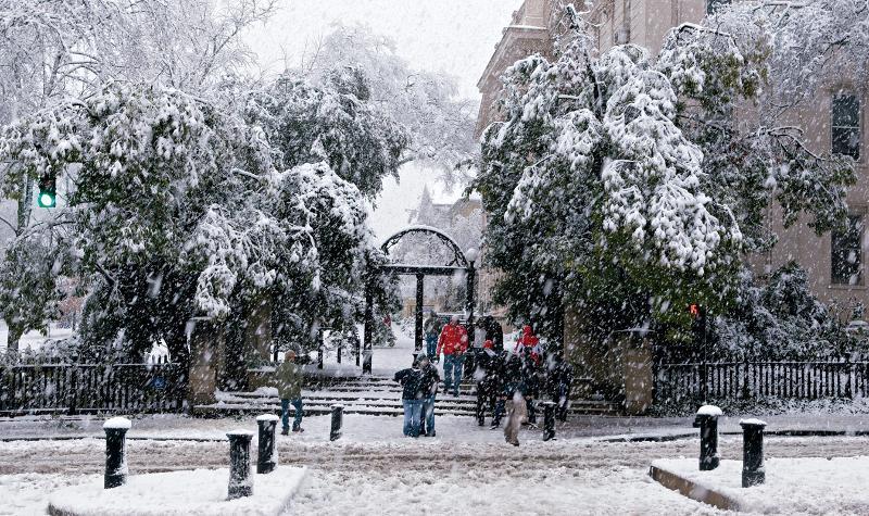 UGA snow