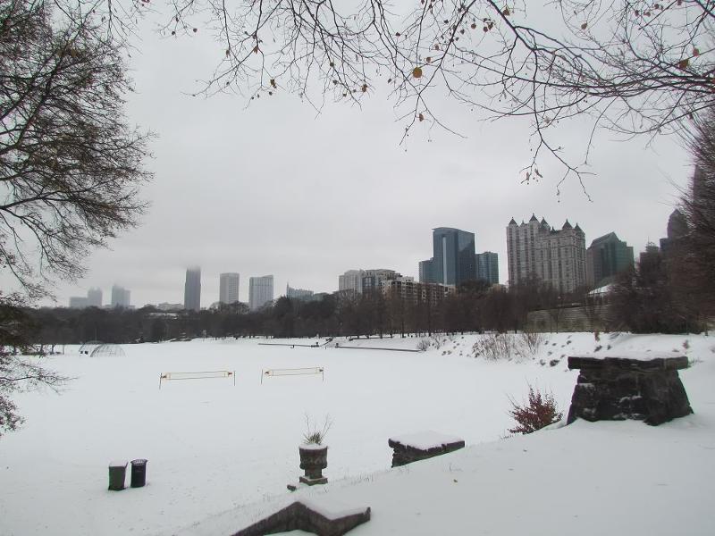 Snow Piedmont Park