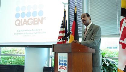 Leggett joined QIAGEN groundbreaking