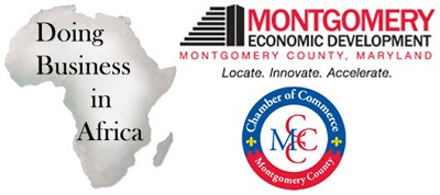 Montgomery Economic Development, MCCC and Doing Business in Africa Logo
