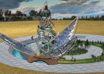Climate Clock Organograph model
