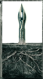 pen with roots