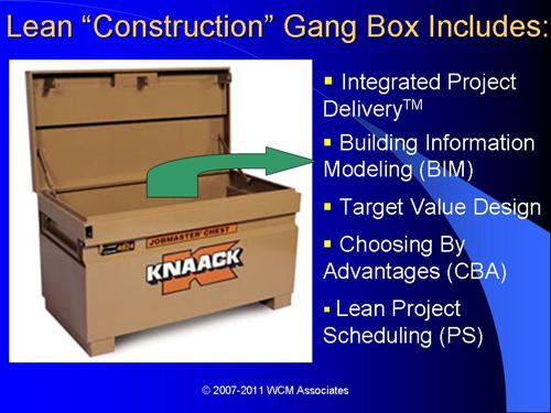 Lean Construction Gang Box