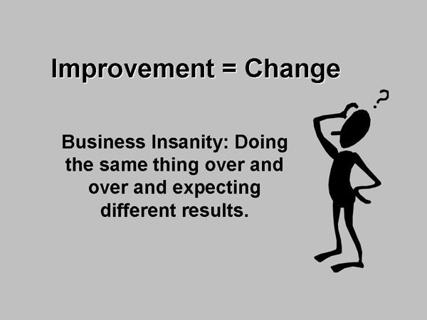 Improvement = Change