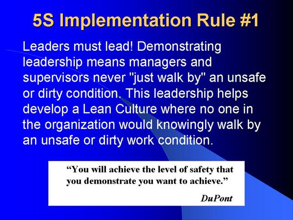 5S Rule #1