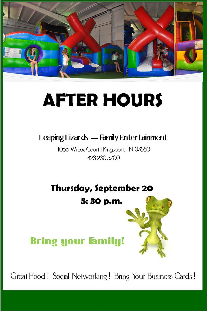 Leaping lizards in kingsport tn kingsport chamber after hours leaping lizards family reheart Image collections