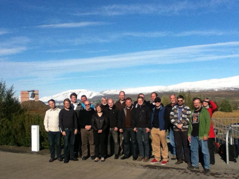 Attendees of the TEMG workshop in Akureyri, Iceland, September 2012