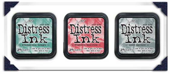 Holiday Distress Inks