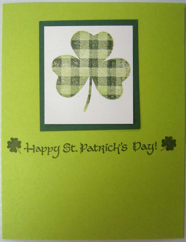 St Pats Card