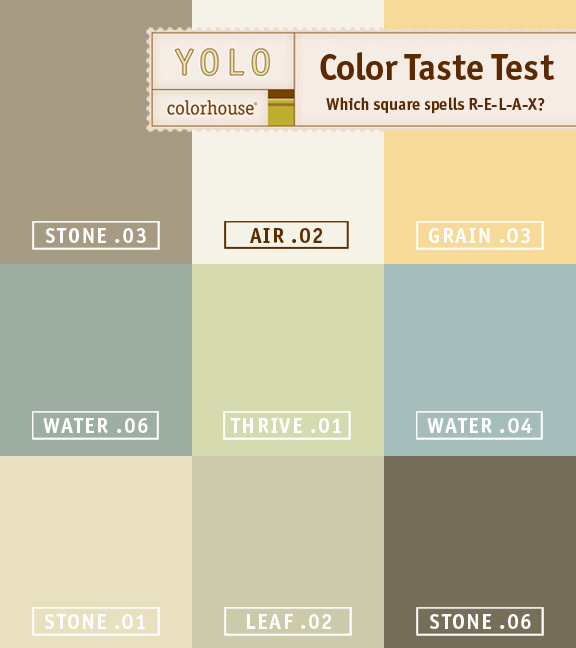 Color Taste Test