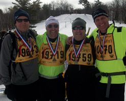 4 Skiers in Their 50's
