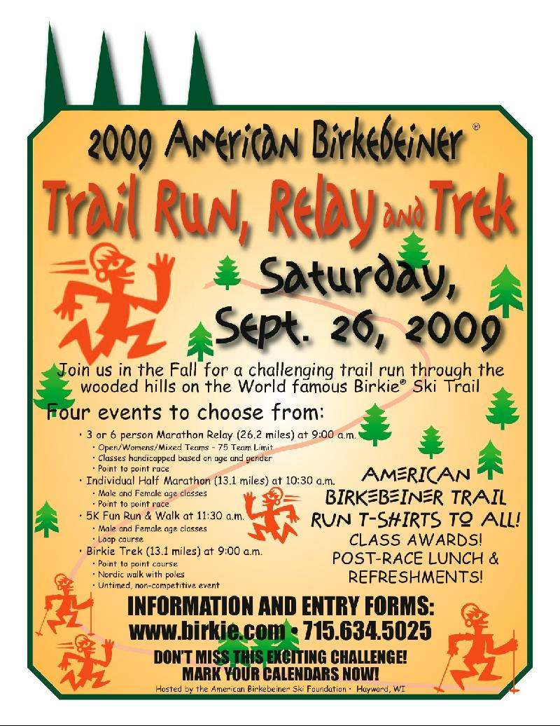 Birkie Trail Run, Relay & Trek