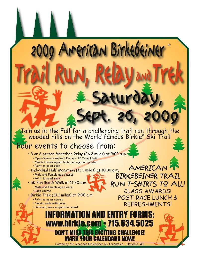 Birkie Trail Run, Relay & Trek
