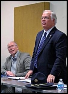 Rep. John Becker, right, and Sen. Joe Uecker at Opiate Task Force meeting Jan. 2016.