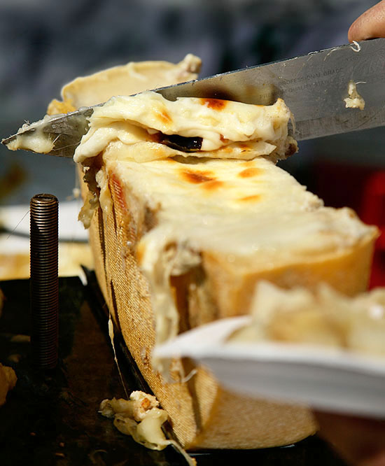 raclette close up