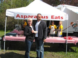 Asparagus Eats Booth At our festival