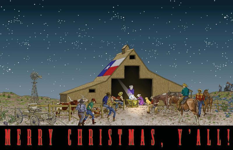texas christmas card image