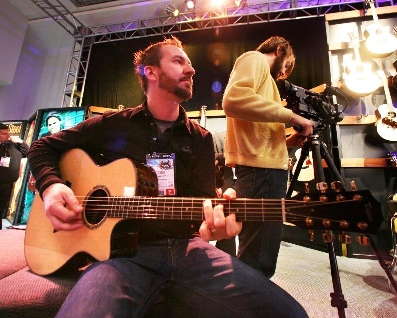 Corey Witt with Trinity Guitars