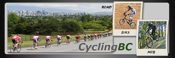 Cycling BC website header