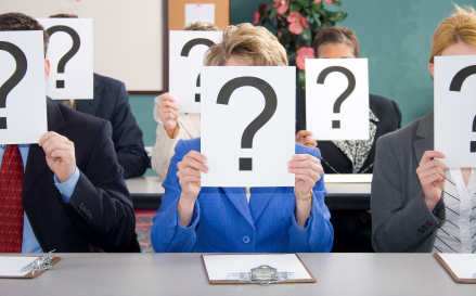 Questions at a meeting