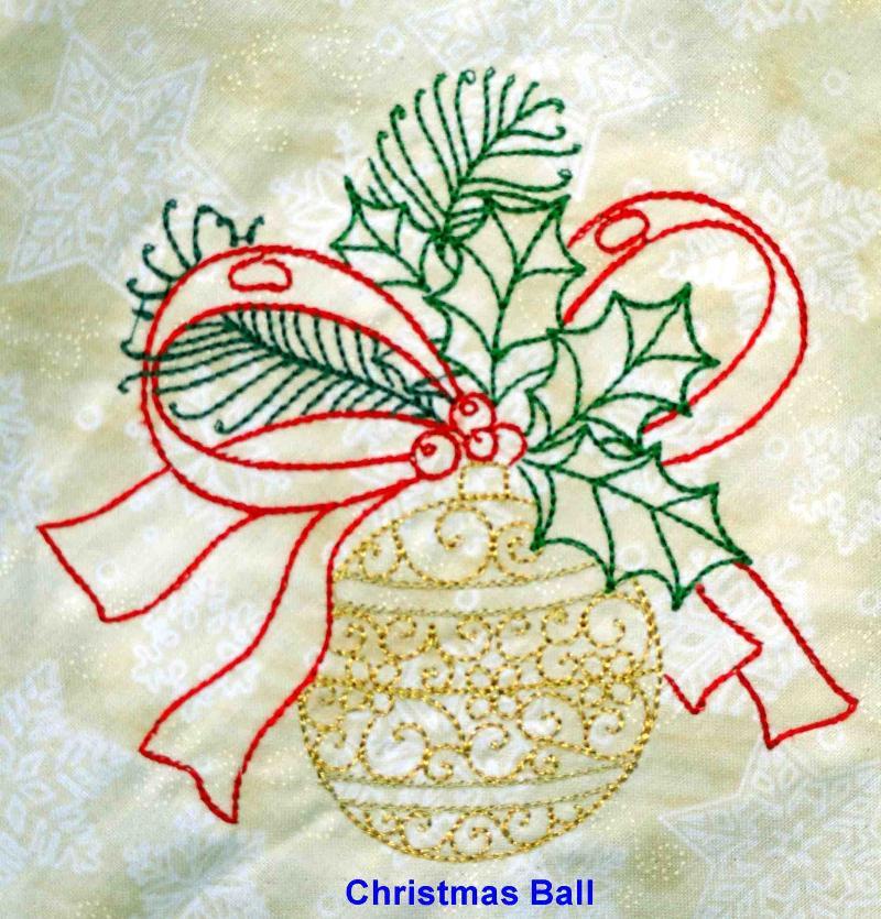 Round Christmas Bal