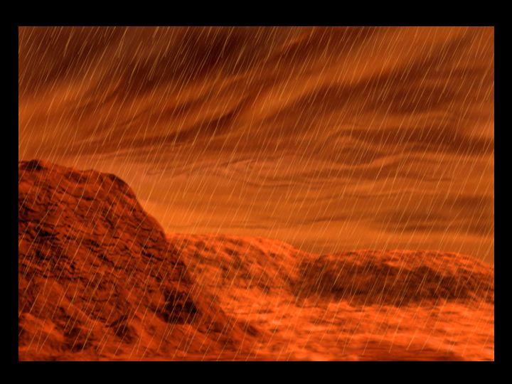 Venus with sulfuric acid rain
