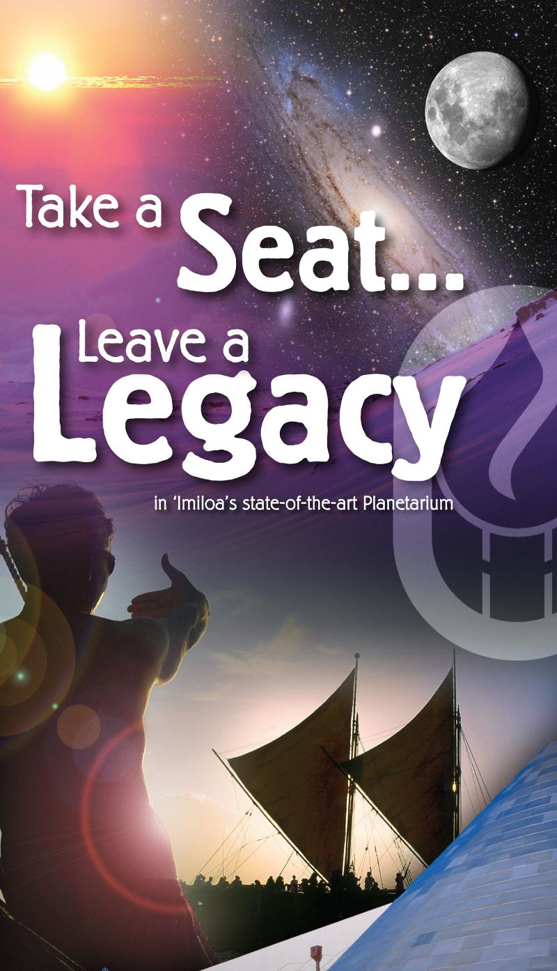 Take A Seat... Leave a Legacy graphic