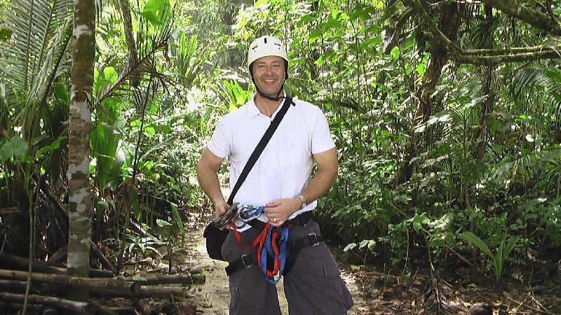 photo Charlie zip lining Costa Rica