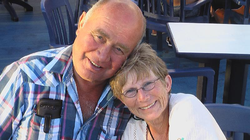 photo of Edgertons travellers Dick and Barb in the W Caribbean