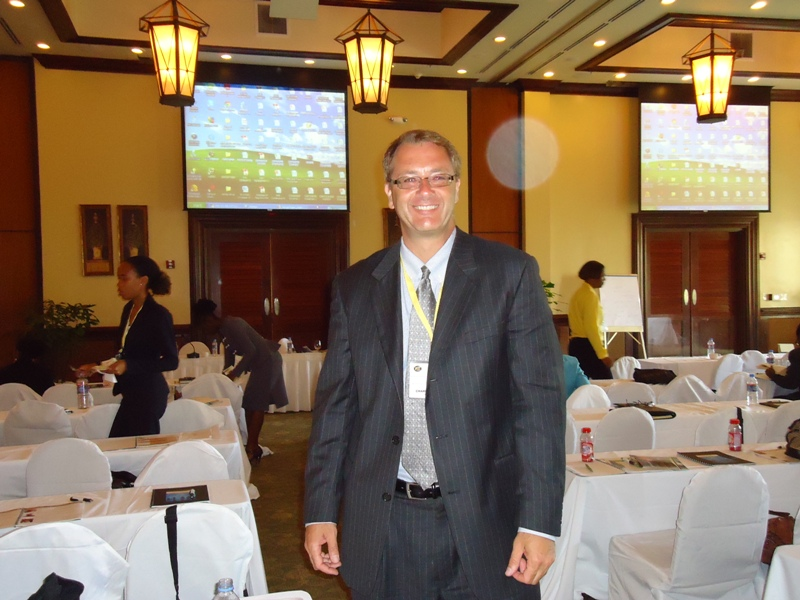 Photo Charlie Adams at Conference in Antigua